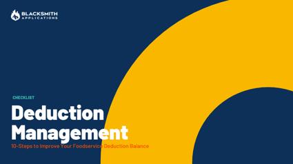 FS Deduction Management Checklist